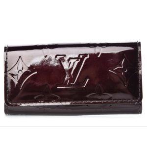 Louis Vuitton Authentic Vernis Purple Key Holder